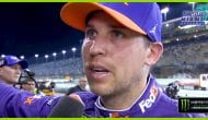 Hamlin holds back tears after winning Busch Pole Award
