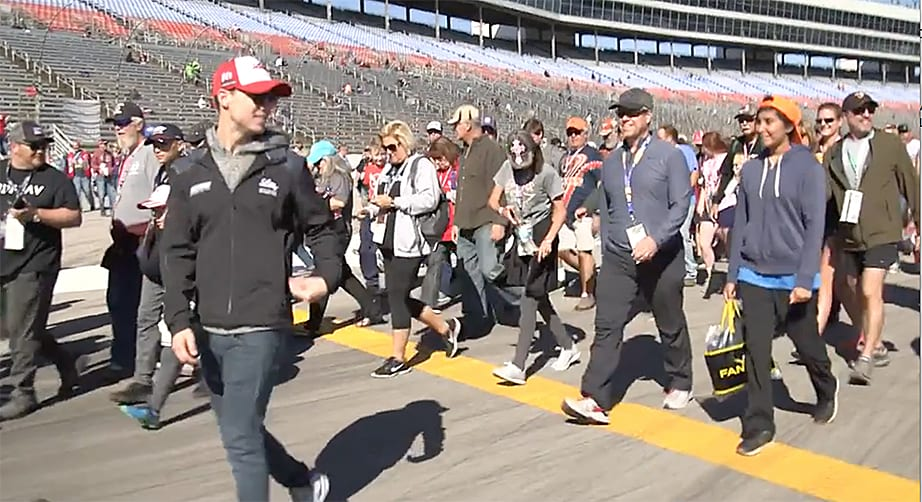 Fans take a lap at Texas Motor Speedway in Fitness Challenge Powered by Diabetes | NASCAR.com