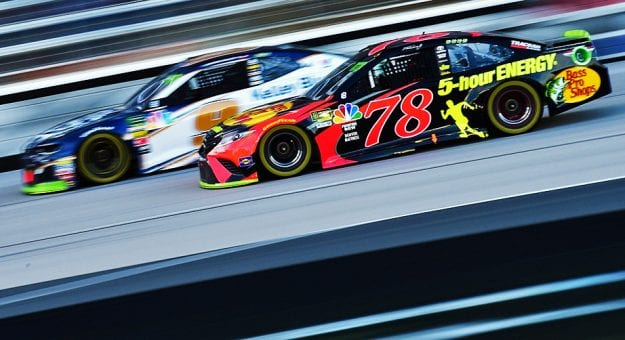 Martin Truex Jr. and Chase Elliott race at Texas.