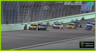 Contact between Logano, Truex Jr. while battling for lead