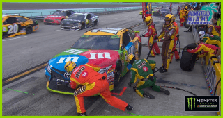 Slow stop hinders Kyle Busch's track position to start Stage 2