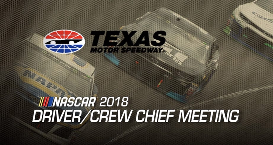 Watch: Driver meeting for Texas playoff race | NASCAR.com