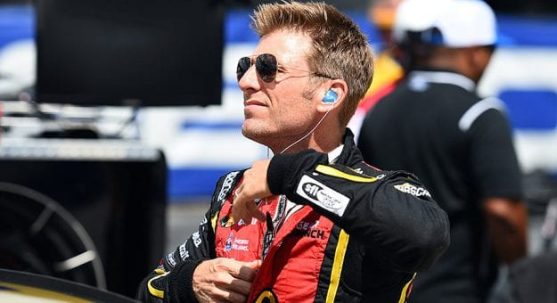 Jamie McMurray suits up at Darlington Raceway.
