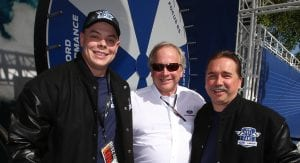Edsel Ford II poses with Ford Hall of Fans winners Darin Kent (left) and Chester Maszczenski