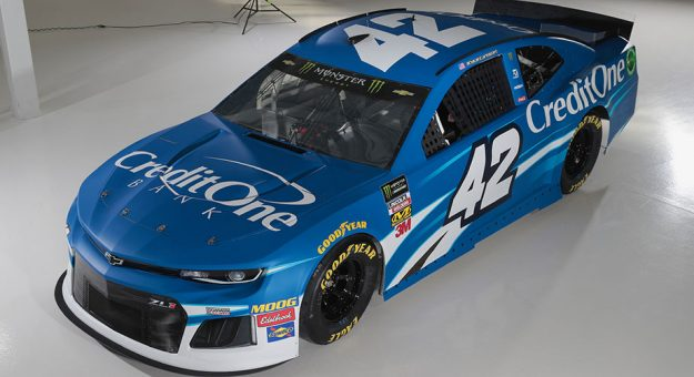Kyle Larson Credit One Bank paint scheme