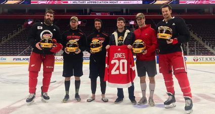 Erik Jones hits the ice with Detroit Red Wings, embraces the chill before Daytona