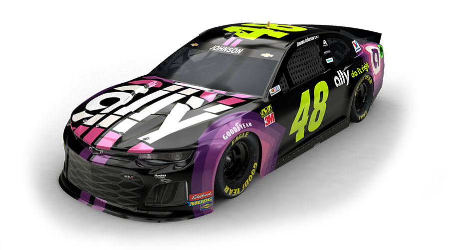 Jimmie Johnson Ally Paint Scheme