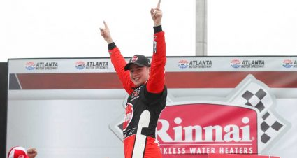 Christopher Bell surges at Atlanta for Supra's first Xfinity win