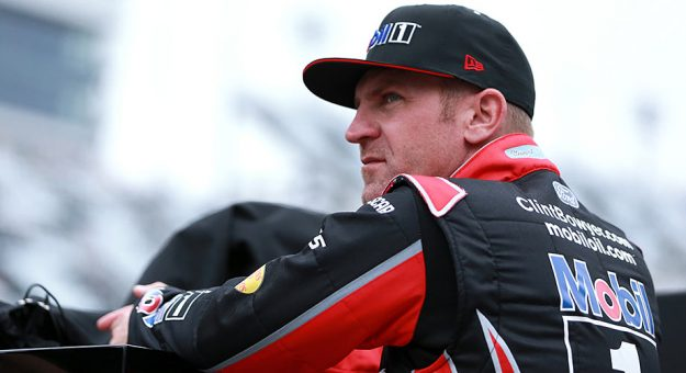 Clint Bowyer waits to load in at Daytona International Speedway.