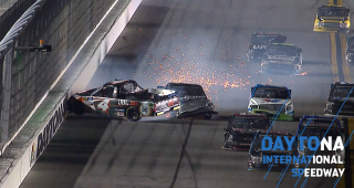 KBM teammates involved in late wreck at Daytona