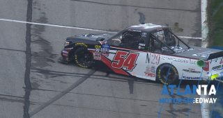 Decker spins, receives damage on No. 54 truck