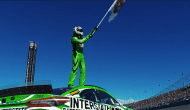 Kyle Busch takes a bow ... and a bow ... and a bow