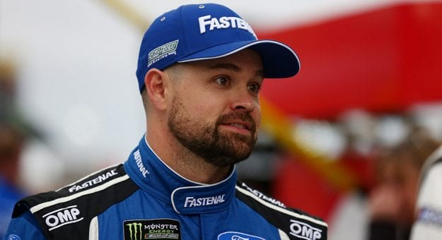 Ricky Stenhouse Jr. looks on during qualifying at Las Vegas Motor Speedway.