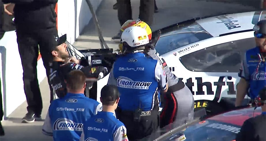McDowell, Suarez fight during qualifying at ISM Raceway