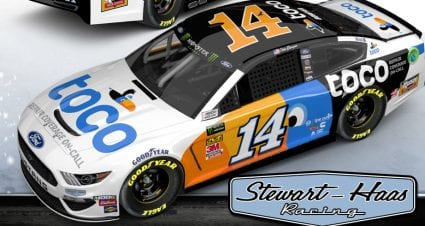 Toco Warranty joins Stewart-Haas Racing as primary partner for Clint Bowyer