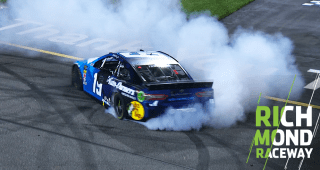 Short Track Long Burnout Truex At Richmond