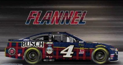Flannel is in: First look at Harvick's Talladega paint scheme