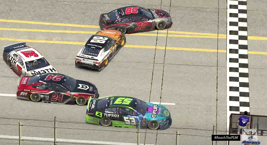 iRacing: Thriller! Talladega photo finish ends in spin