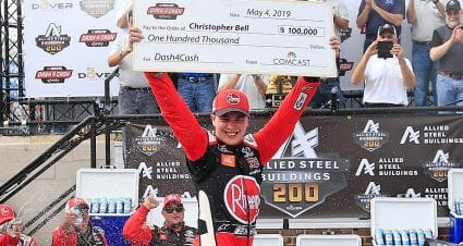 Christopher Bell lands Dash 4 Cash payday, foils Custer in Xfinity win at Dover