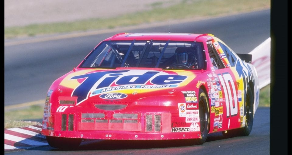 3 May 1997:  NASCAR driver Ricky Rudd in action during the Save-Mart 300 at Sears Point International Raceway in Sonoma, California. Mandatory Credit: David Taylor  /Allsport