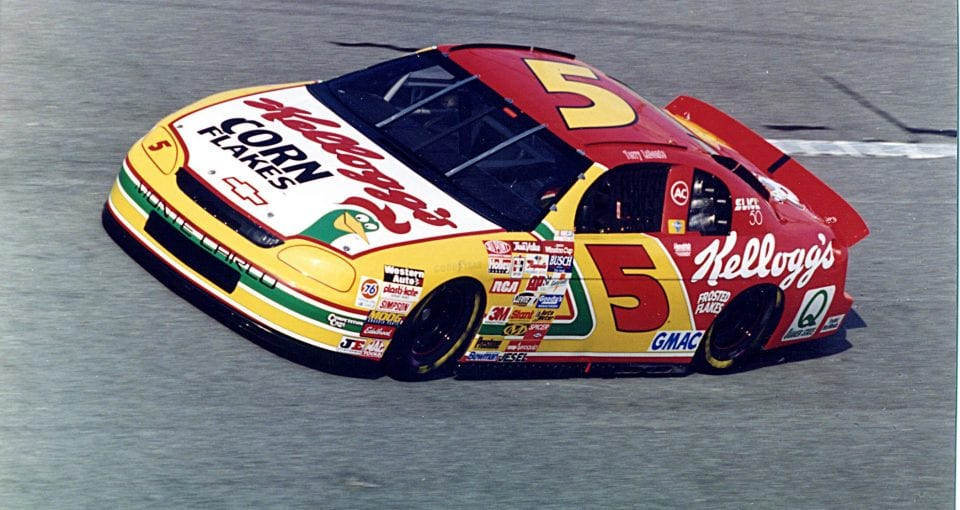 DAYTONA BEACH, FL - FEBRUARY 18, 1996:  Terry Labonte had a long relationship with Hendrick Motorsports and sponsor Kellogg's. Consistency played in his favor during 1996, as he outdueled teammate Jeff Gordon for the national title.  (Photo by ISC Archives via Getty Images)
