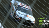 Hamlin hits the wall while running in the top five