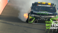 DiBenedetto smacks wall midway through Stage 1
