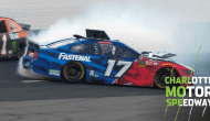 Stenhouse gets loose, goes around through turf