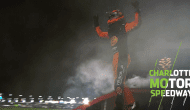 Doing his best work late: Truex burns it down for the Charlotte fans