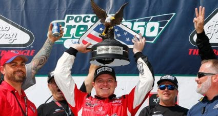 Cole Custer sidesteps Reddick on final lap to clinch Pocono Xfinity victory