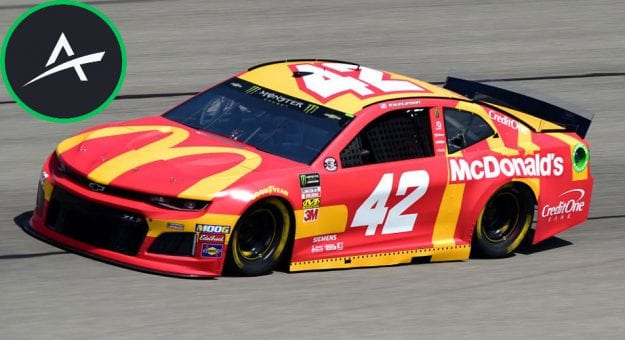 Kyle Larson No. 42 car at Chicago with Action Network logo