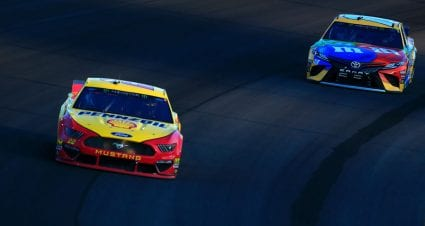 Late caution erases winning chances for Joey Logano