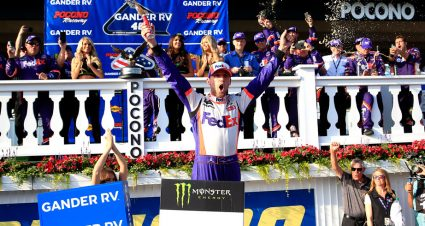 Denny Hamlin leads 1-2-3 Pocono finish for Joe Gibbs Racing