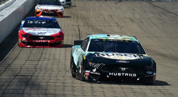 Kevin Harvick's No. 4 leads the way at New Hampshire Motor Speedway.