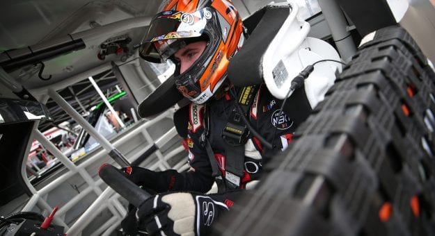 SPARTA, KENTUCKY - JULY 11: Spencer Davis, driver of the #11 All Pro Toyota, sits in his truck during practice for the NASCAR Gander Outdoor Truck Series Buckle Up In Your Truck 225 at Kentucky Speedway on July 11, 2019 in Sparta, Kentucky. (Photo by Matt Sullivan/Getty Images) | Getty Images