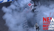 Bell does two burnouts at New Hampshire