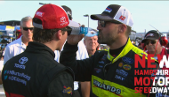 Burton, Menard have post-race chat at New Hampshire