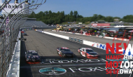 Three-wide battle for Stage 1 finish at New Hampshire
