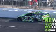 Kyle Busch hits wall in final stage at New Hampshire