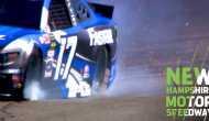 Stenhouse slams wall hard after contact with Jones