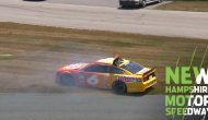 Newman goes for a spin, hits wall at end of first Cup practice