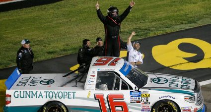 Hill wins at Las Vegas to advance in Gander Outdoors Truck Series playoffs