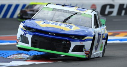 Elliott leads eventful final practice as Truex's engine blows up