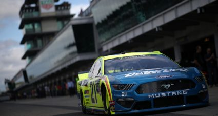 Menard, Larson lead practices as Hamlin wrecks hard at Indianapolis