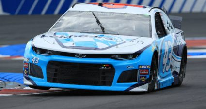 Bubba Wallace drives No. 43 Chevrolet Camaro to 24th-place finish at Charlotte Motor Speedway Road Course