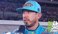 Kyle Busch reacts after finishing second at Richmond