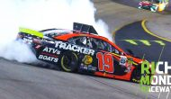 Truex Jr. spins while leading after contact from Stenhouse Jr.