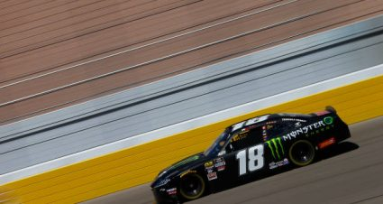 Riley Herbst drives No. 18 Toyota Supra to ninth-place finish at Las Vegas Motor Speedway