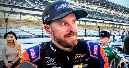 Emotions pour out for Jeb Burton after career-best finish at Indy
