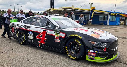 Inspection issues bar SHR No. 4 from qualifying at Kansas; JGR No. 19 also docked